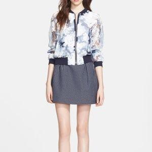 Mcginn 'Ivy' Floral Sheer Bomber Jacket Size XS